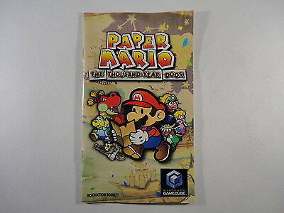 ¤ Paper Mario Thousand Year Door ¤ (MANUAL ONLY) GREAT Nintendo GameCube Wii