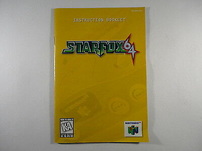 ¤ Star Fox 64 ¤ (MANUAL ONLY) GREAT Nintendo 64 N64