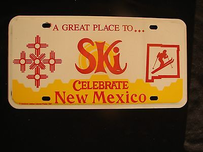 NEW MEXICO A GREAT PLACE TO SKI DIAMOND JUBILEE License Plate SKIER SKIING TAOS