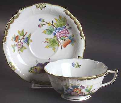 Herend QUEEN VICTORIA (GREEN BORDER) 734 Cup & Saucer 6546735
