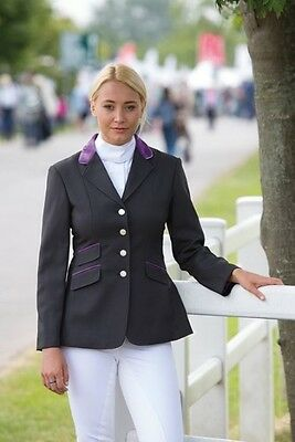 SHIRES HENLEY COMPETITION JACKET LADIES BLACK women smart horse riding wear