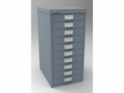 Bisley - 10 Multi Drawer Filing Cabinet - Brand  New - Silver