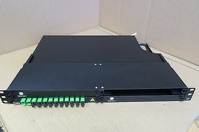 "SpliceGroup Fibre Optic Rack Mount Patch Panel 19"" 1U 12 Port"