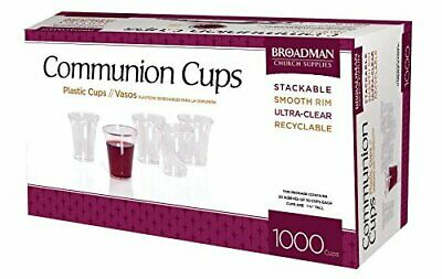 Broadman Plastic Clear Communion Cups - 1000 Count