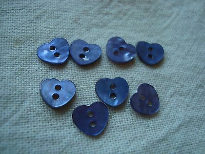 8 Mauve  Heart Agoya/Mother of Pearl Buttons