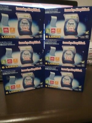 6 X6 Purex Complete 3 In 1 Laundry Sheets Detergent Softener Static SPRING OASIS