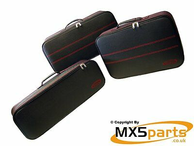 Roadster Bag LIMITED EDITION Red stitched Luggage set Mazda MX5 Mk4 ND 2015