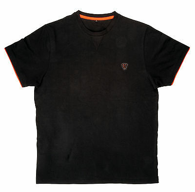 Fox Black Orange Brushed Cotton T-Shirt Tshirt T Shirt Angelshirt Bekleidung