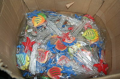 Wholesale job lot shop clearance Wooden tropical Fish Wind Chime x42