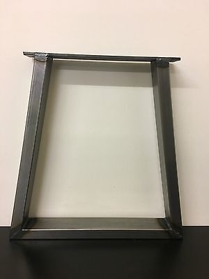 Set Of Industrial Steel Metal legs Bench -Trapezium Design-Custom Size Available