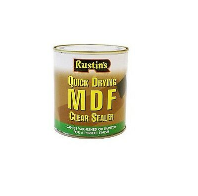 Rustins 500Ml Mdf Clear Sealer Quick Drying For Paints And Varnishes