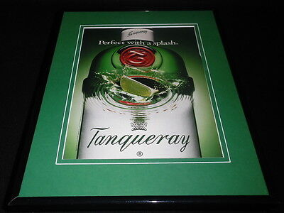 1993 Tanqueray Gin Perfect Splash Framed 11x14 ORIGINAL Advertisement