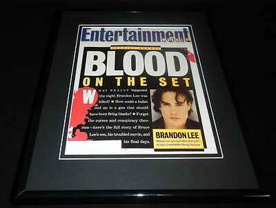 Brandon Lee Framed ORIGINAL 1993 Entertainment Weekly Cover The Crow