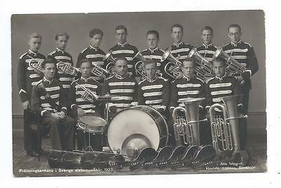 Salvation Army Brass Band Music Corps 1933 Royal Photographer Larsson RPPC Drum