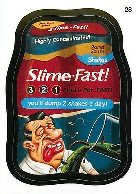 2015 Topps Wacky Packages Series 1 Base Card #28 Slime-Fast