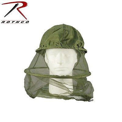 New Rothco 8533 GI Style Olive Drab Mosquito Headnet fits over/under Cap Helmet