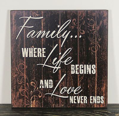 PRIMITIVE COUNTRY WOOD FRIENDSHIP SIGN HANDMADE INSPIRATIONAL HOME DECOR 0403