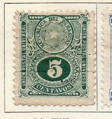 Paraguay 1920 Early Issue Fine Mint Hinged 5c. 125256