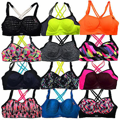 Victoria's Secret Sports Bra Vsx Angel Sexy Lined Memory Fit Wicking Underwire