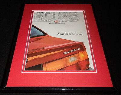 1986 Audi 4000CS Quattro 11x14 Framed ORIGINAL Vintage Advertisement