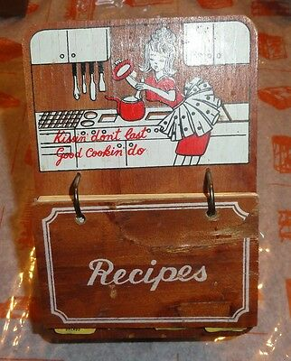 Vintage 1950s - 60's ? Stand Up Recipe Stand, Holder - index Card