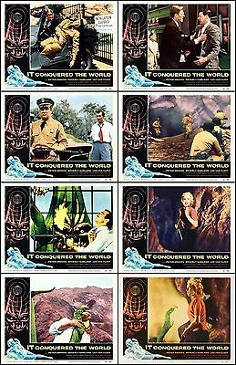 IT CONQUERED THE WORLD Complete Set Of 8 Individual 8x10 LC Prints 1956