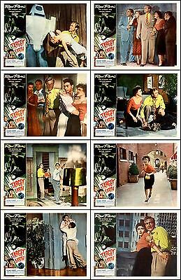 TARGET EARTH  RICHARD DENNING COMPLETE SET OF 8 DIFFERENT 8x10 LC PRINTS 1954