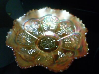 Vintage Fenton orange carnival glass