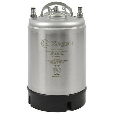 Kegco 2.5 Gallon Ball Lock Keg - Strap Handle - NSF Approved