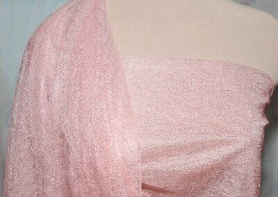 COSTUME FORMAL STRETCH POWER MESH GLITTERED NEON PINK //SILVER DANCE PAGEANT
