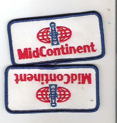 Crest - Patch - Lot of 2 Midcontinent Communications