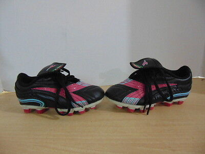 Soccer Shoes Cleats Childrens Size 9 Toddler Diadora Black Pink Blue