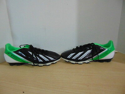 Soccer Shoes Cleats Mens Size 6  Adidas F50 Black Green