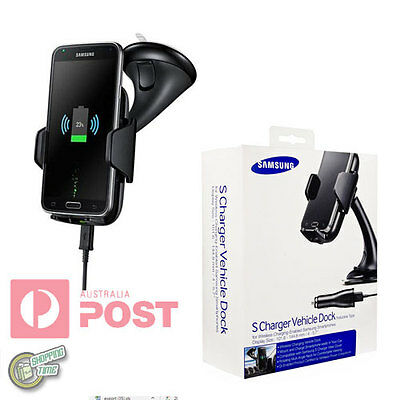 Genuine Samsung Galaxy S6/S7/Edge S-Charger Wireless Car Holder Cradle Kit Dock