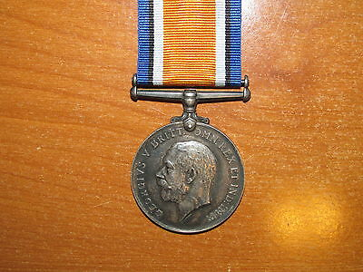 WW1 silver British War Medal Captain Army Printing & Stationary Services SCARCE