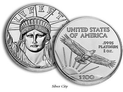 Choice Gem Brilliant Uncirculated $100 Platinum 1Oz. American Eagle U.s. Coin