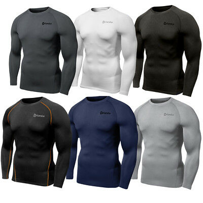 Tesla R34 Thermal Winter Baselayer Fleece-Lined Long Sleeve Compression Shirt