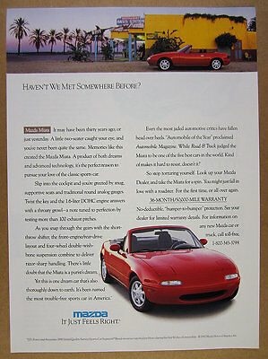 1991 Mazda MIATA red car Oasis Station neon sign photo vintage print Ad