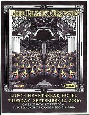 Black Crowes Concert Flyer Providence Lupos 2006