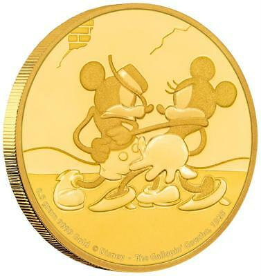 Niue 2,5 Dollar 2017 Gallopin Gaucho Mickey through the Ages (5) 1/62 Oz Gold PP