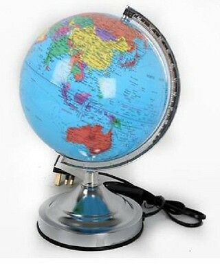 Decorative Globe Lantern With Silver Stand Earth Map Geography Educational Toy G