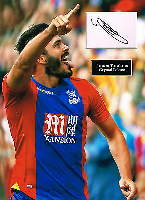 James TOMKINS SIGNED Autograph 16x12 Photo Mount AFTAL COA Crystal Palace FC