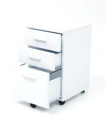 Chest of drawers mobile Chest office MDF white with wheels cm 40x44x65 h