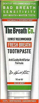 The Breath Co Fresh Breath Toothpaste - 75 ml, Mild Mint
