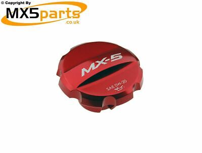 MX5 Engine Oil Filler Cap In Red Genuine Mazda MX-5 1.5 & 2.0 Mk4 ND & RF 2015>