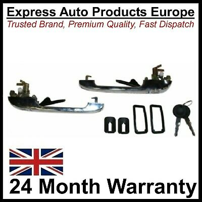 2 x Chrome Front Door Handles with Keys VW Golf MK1 MK2 Left & Right PAIR