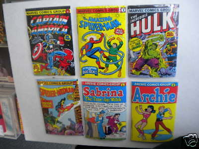 Marvel Mini vintage 6 different comic books with gum rare set 1981