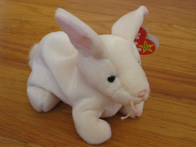 TY Beanie Baby Babies NIBBLER Bunny Rabbit Easter Stuffed Animal 1999 w/tags