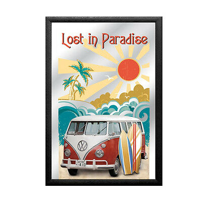 Mirror VW Bulli Lost in Paradise, 20 x 30 cm
