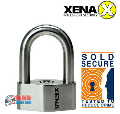 Xena XSU69 Sold Secure Tested Heavy Duty Stainless Steel Motorcycle Padlock